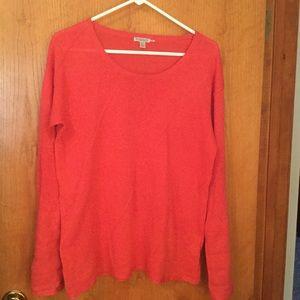 Long sleeved linen/cotton sweater